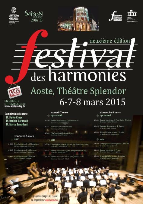 Locandina festival des harmonies 2015