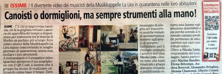 """Musikkapelle """"in quarantena"""""""